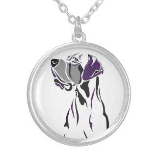 Great Dane artsy necklace
