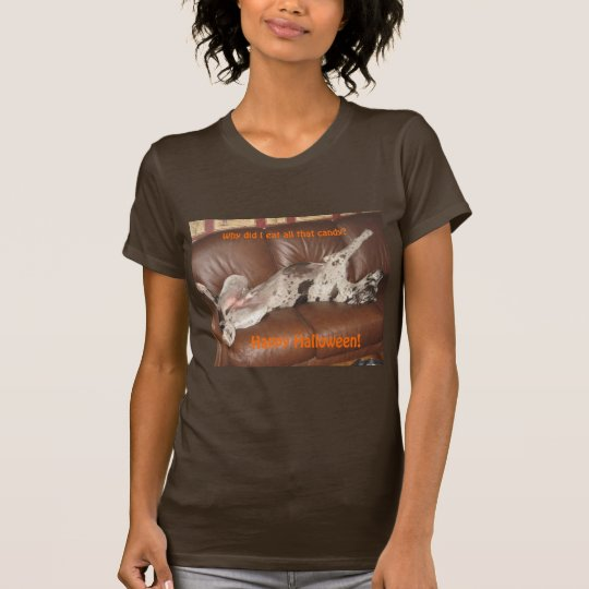 Great Dane Ate Too Much Halloween Candy T-Shirt