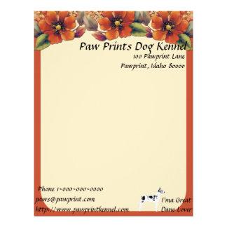 Great Dane - Autumn Floral Design Letterhead