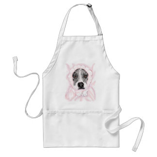 Great Dane Baby Mantled Merle Girl Adult Apron