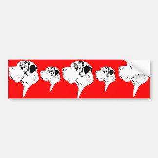 Great Dane Big Head merle Bumper Sticker