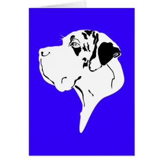 Great Dane Big Head merle Cards