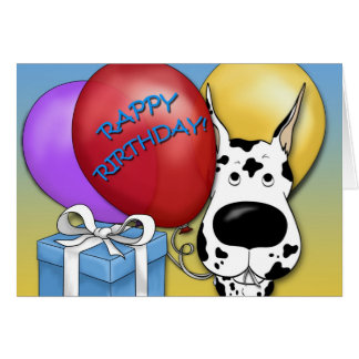 Great Dane Birthday Card