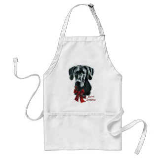 Great Dane Black Christmas Gifts Adult Apron