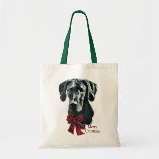 Great Dane Black Christmas Gifts Tote Bag