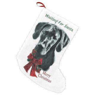 Great Dane (Black) Christmas Small Christmas Stocking