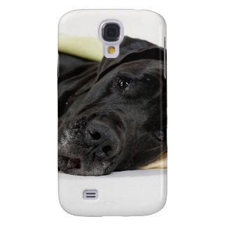 Great Dane - black/Dogge Alemán - negro Funda Para Samsung Galaxy S4