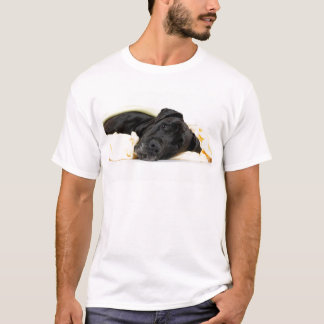 Great dane - black/German Dogge - black T-Shirt