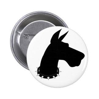 Great Dane (black) Silhouette - Button