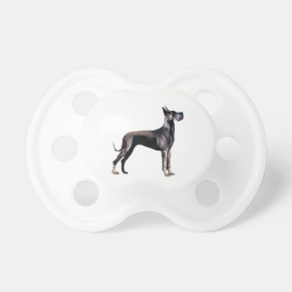 Great Dane - black standing - cropped ears Pacifier