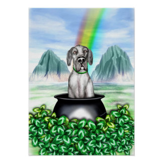Great Dane Black UC Pot O Gold Poster