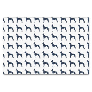 Great Dane Black Watercolor Silhouette Tissue Paper