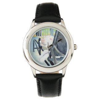 Great dane blanco Zoe Relojes De Pulsera