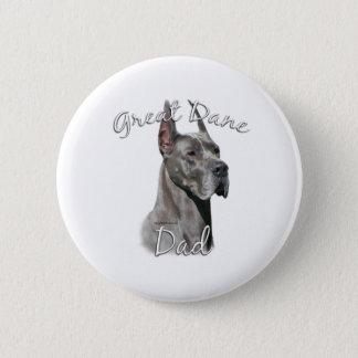 Great Dane (blue) Dad 2 Pinback Button