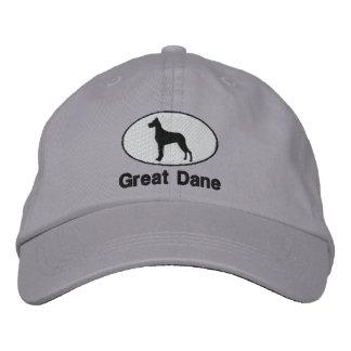 Great dane bordó el gorra gorra bordada