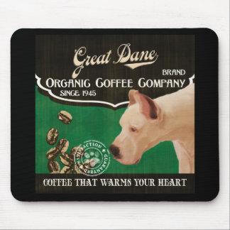 Great Dane Brand – Organic Coffee Company Mouse Pad