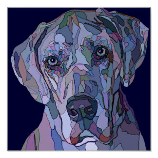 Great Dane Bright Colors Painting Poster