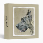 Great Dane (Brindle) 3 Ring Binder