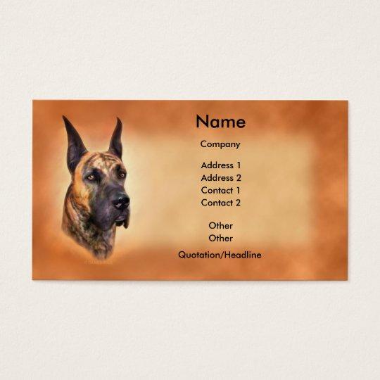 Great Dane Brindle Crop Business Card