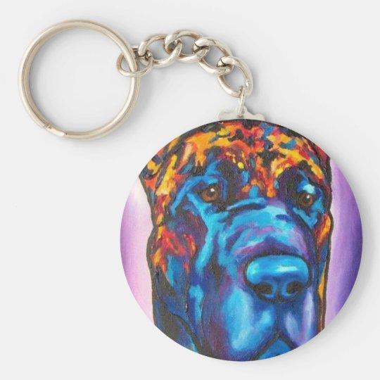 Great Dane Brindle Keychain
