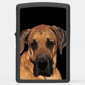 Great Dane Brown Dog Zippo Lighter