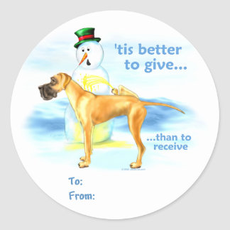 Great Dane BTG Fawn UC Gift Tags