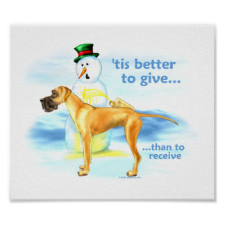 Great Dane BTG Fawn UC Poster