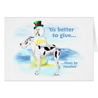 Great Dane BTG Harlequin Card
