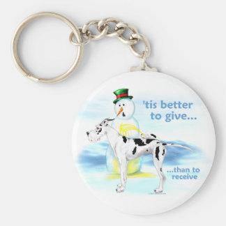 Great Dane BTG Harlequin Keychain