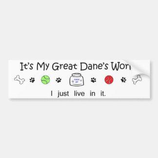 great dane bumper sticker
