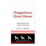 Great Dane Businesscards red core Business Card Template