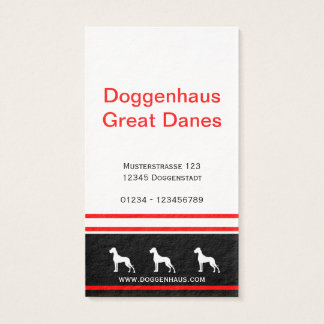 Great Dane Businesscards red core Business Card
