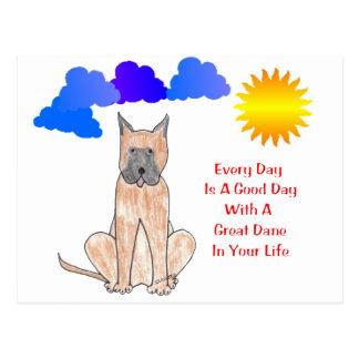 Great dane cada día es un buen día postales