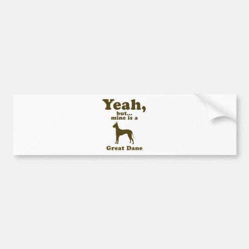 Great Dane Car Bumper Sticker