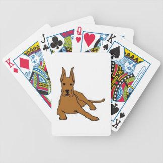 Great Dane Cartoon Retro Dog Playing Cards