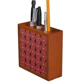 Great Dane checkered Pencil Holder