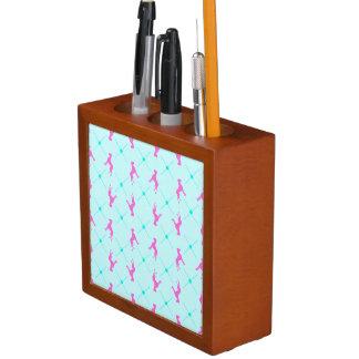 Great Dane checkered Pencil/Pen Holder