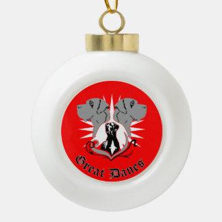 Great Dane Christmas Adorno De Cerámica En Forma De Bola