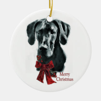 Great Dane Christmas Gifts Ornament