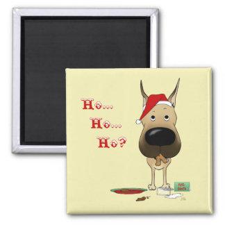 Great Dane Christmas Magnets