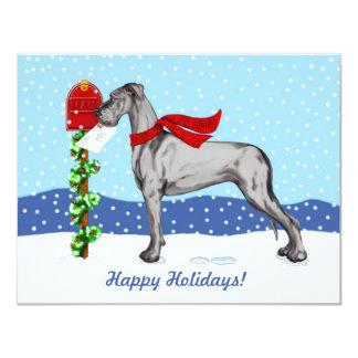 Great Dane Christmas Mail Black UC Card