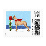 Great Dane Christmas Mail Fawn Stamps