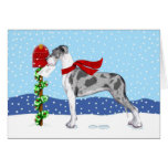 Great Dane Christmas Mail Merle UC Greeting Cards