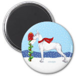 Great Dane Christmas Mail White Refrigerator Magnet