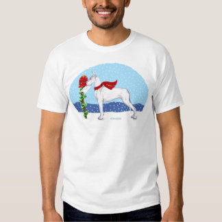 Great Dane Christmas Mail White T Shirt