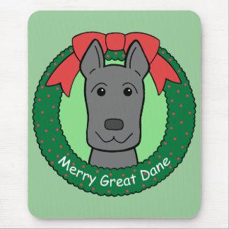 Great Dane Christmas Mouse Pad