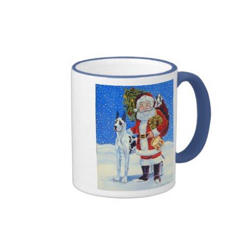 Great Dane Christmas Mug