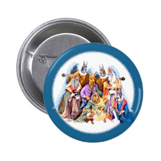 Great Dane Christmas Nativity Button