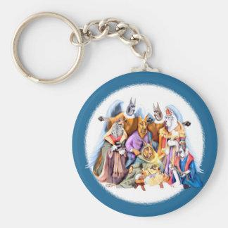 Great Dane Christmas Nativity Keychain