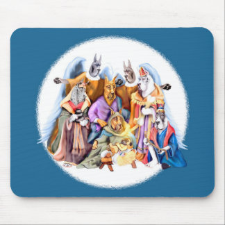 Great Dane Christmas Nativity Mouse Pad